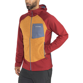 Columbia Marley Crossing Hooded Hybrid Jacket Herren red element/canyon gold